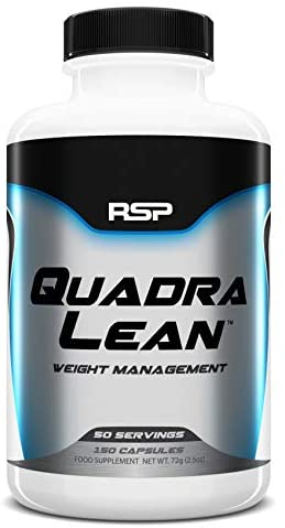 RSP Nutrition QuadraLean – Stimulant Free Weight Management, Metabolism Booster, Energy & Appetite Support – CLA, L-Carnitine, Non-Stim Formula, 50 Servings